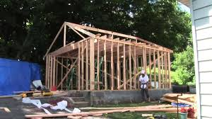 Building A 2 Car Garage by Jc Contractor Nj Garage Framing Project West Orange Nj Youtube