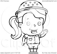 cartoon clipart of a black and white safari with an idea