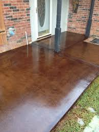 Pea Gravel And Epoxy Patio by Brickform Mission Brown Acid Stained Patio Concrete Was Ground