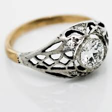old rings silver images Antique silver gold diamond filigree ring jpg