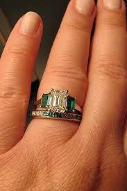 emerald cut wedding band emerald cut e ring wedding band help weddingbee