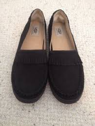 ugg s roni shoes black ugg womens tie bow moccasin suede driving shoes