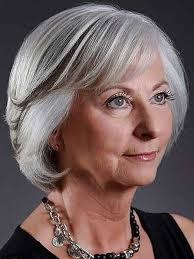 139 best hairstyles for seniors images on pinterest grey hair