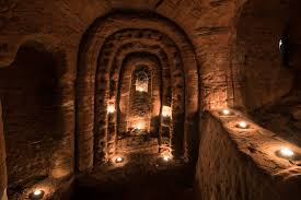 stunning 700 year old giant cave used by knights templar found