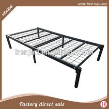 top grade simple black metal frame single mesh bed with no