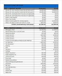 Household Budget Template Excel Household Budget Template 9 Free Sle Exle Format Free