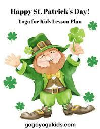 lucky leprechaun spring st patricks day kids yoga go go yoga