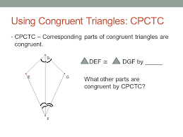 Cpctc Worksheet Answers Chapter 4 Part 2 Congruent Triangles Ppt