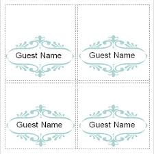 sample place card template u2013 6 free documents download in word
