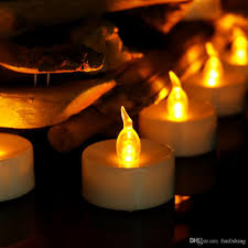 24 pichalloween flameless white led tea lights candles