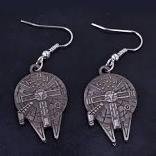 wars earrings drop shipping wars earrings millennium falcon