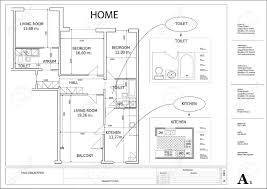 creative architectural plan drawings artistic color decor top to