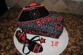 high heel shoe and clutch purse birthday cake cakecentral com