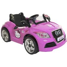 convertible cars for girls dynacraft hello kitty 6v sports car battery powered ride on