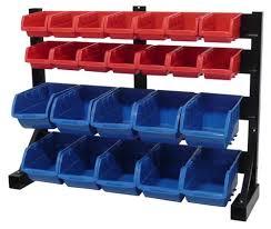 Storage Bin Shelves by Tool Shop 24 Bin Small Parts Storage Rack At Menards