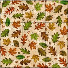 tile murals for kitchen backsplash tile mural fall leaves kitchen backsplash ideas traditional