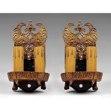 pair of hammered copper arts u0026 crafts 2 light wall sconces pia u0027s