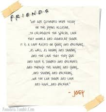 wedding quotes for best friend joey s wedding speech from friends if i get married one of