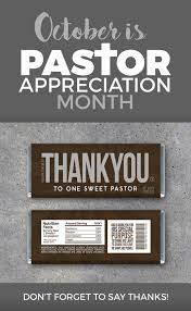 thank you pastor appreciation bar wrappers printable