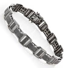 black bracelet diamond images Mens black diamond bracelet 2 54ct black rhodium sterling silver jpg