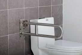 Toilet Handrail 304 Stainless Steel Toilet Folding Up Grab Bar Pt 304 08