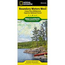 Bwca Map 753 Boundary Waters West Superior National Forest Trail Map