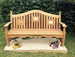 Memorial Benches Uk Solid Oak Outdoor Garden Furniture Wooden Dining Tables Chairs
