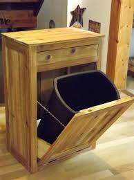 Kitchen Cabinet Trash Can Trash Cans Wood Garbage Can Holders Wooden Trash Can Holder For