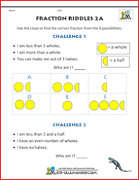 fractions math printable fraction worksheets