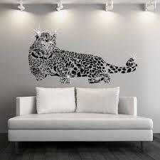 wall stickers uk wall art stickers kitchen wall stickers wss10004 com swarovski ay9029 leopard