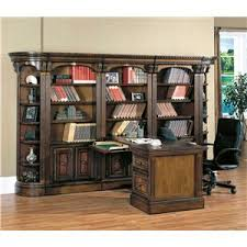 corner bookcase wall and desk office unit huntington by parker