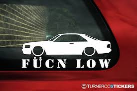 mercedes decal mercedes w126 coupe fucn low sticker decal for mercedes