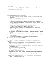 Document Review Job Description Resume by Cv Electrical Qa Qc Engineer