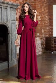 long woman dress floor autumn winter spring dress maxi dress with