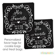 wedding favor labels personalized wedding favor labels for snack candy or cookie bag