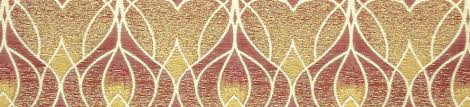 Orange Curtain Material Art Nouveau Fabric Art Nouveau Upholstery Fabric Art Nouveau