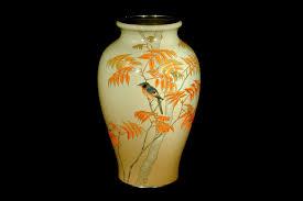 Enamel Vase Kagedo Japanese Art Ando Jubei Moriage Enamel Vase With Autumn