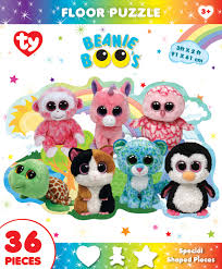 fun park ty beanie boo shaped floor puzzle floor puzzle