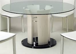 Glass Top Dining Table And Chairs Round Glass Top Modern Dining Table W Optional Chairs