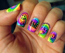 water marbling 3 min nail art tutorial tiedye nails by fonda nail