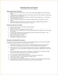 Simple Job Resume Template Sample 14 Example Job Resume For First Job Basic Job Appication Letter