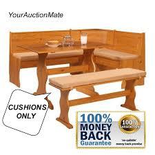 breakfast kitchen nook bench cushions 4 piece set dining dinette