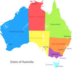 Map With States by Australian Map With States Vector Image 54497 Rfclipart Of