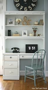 Antique White Desks by Lexington Desk And Hutch In Cloud White Saw Nail And Paint