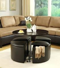 Coffee Table With Ottoman Seating Coffee Table Ottomans Underneath Coffee Table With Seats