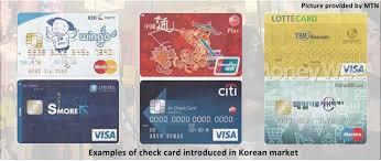 check cards take korean market by fin pol