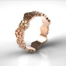 japanese wedding ring gold ring cherry blossom ring flower ring