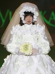 bridal gown designers hrp 4c humanoid robot miim presents a wedding dress by japanese