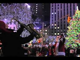 christmas in new york city blizzard in times square youtube