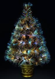premier 60cm gold fibre optic tree with warm white leds